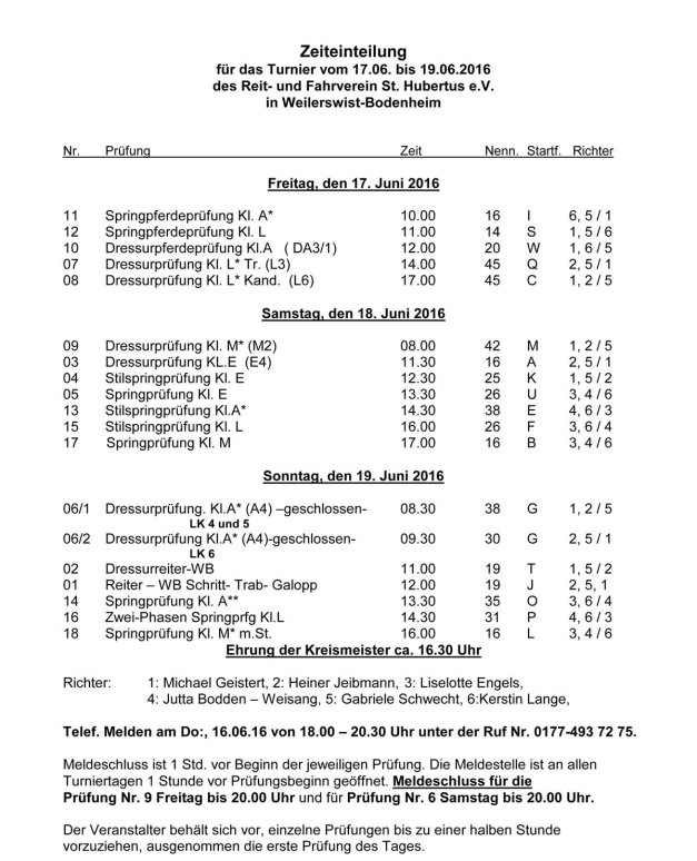 Zeiteinteilung Bodenheim