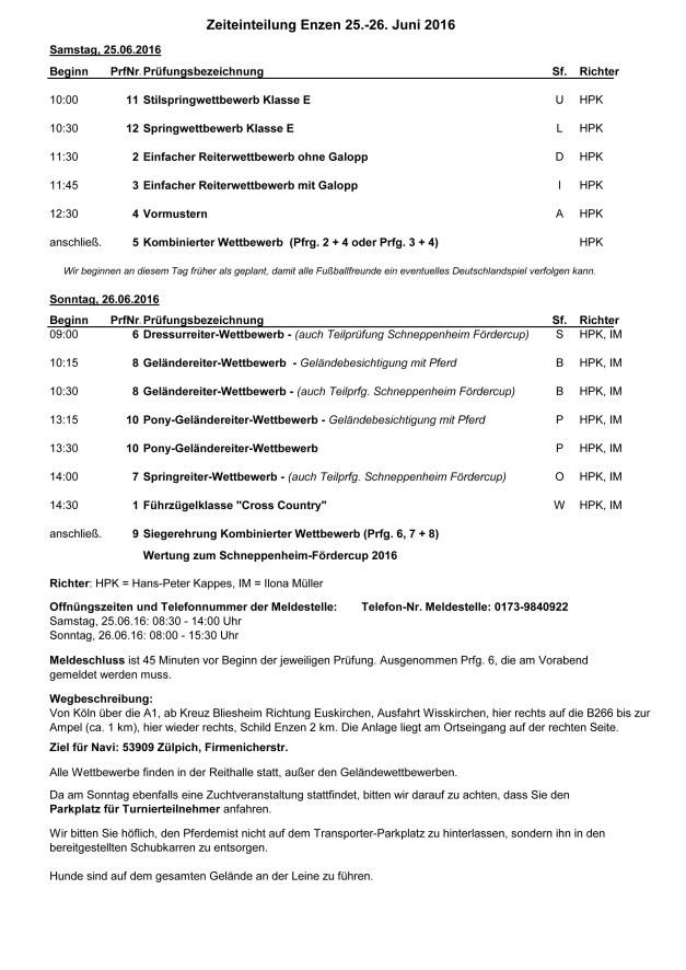 Zeiteinteilung WBO